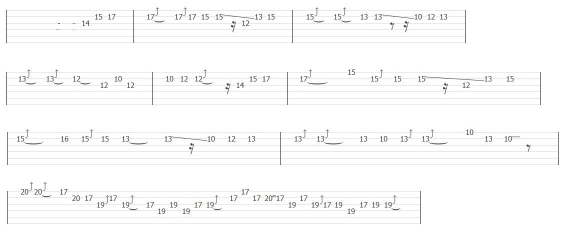Gary Moore - Still got the Blues (Solo Tab)