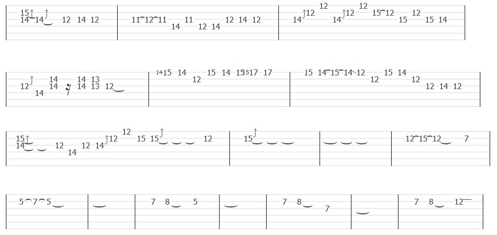 Metallica - Nothing Else Matters (Solo Tab)