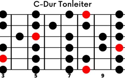 Dur-Tonleiter auf der Gitarre (einfach erklärt)