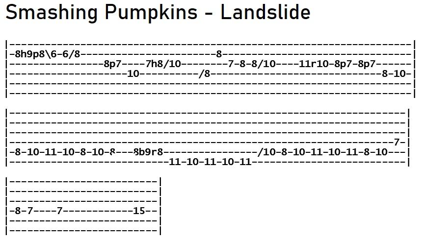 Smashing Pumpkins - Landslide